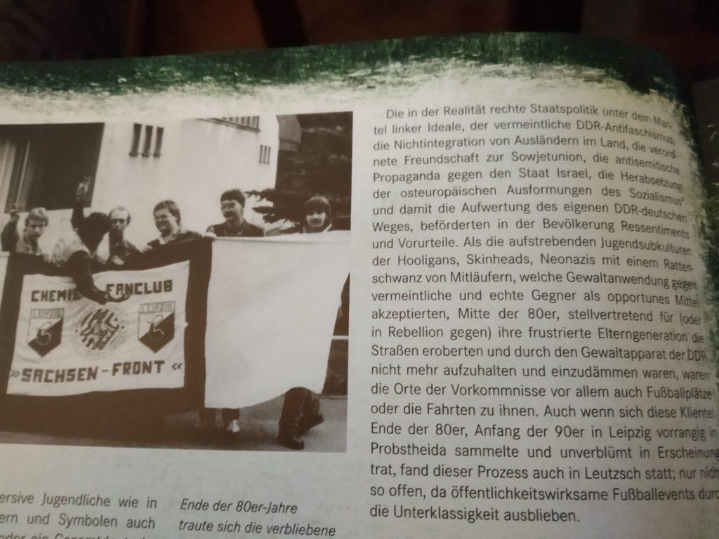 Das Leutzscher Naziproblem um die Wendezeit analysiert Ray Schneider